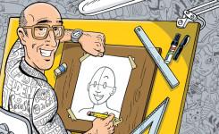 Afbeelding Steven De Rie karikatuur