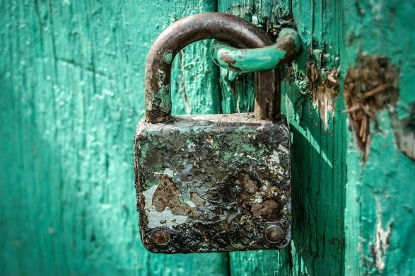 Foto deurslot groen